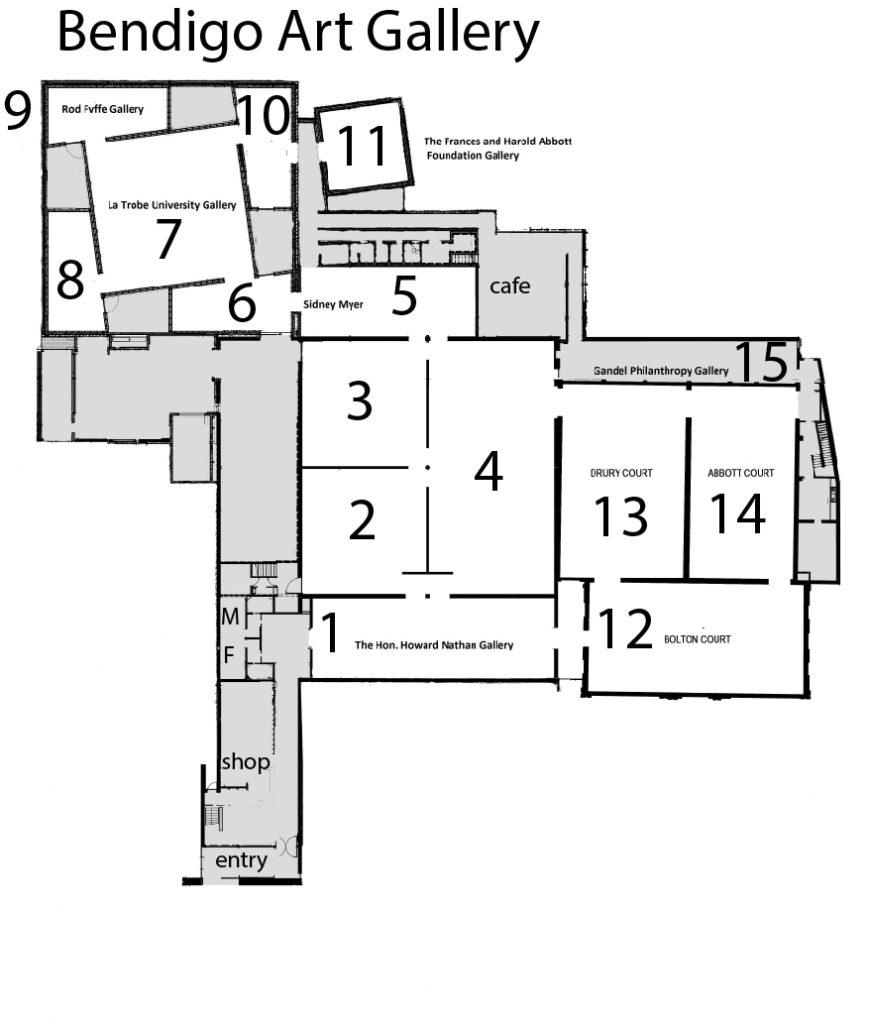 Bendigo Art Gallery Floorplan