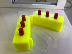 3D printed braille swing cell with removable rods for the braille dots