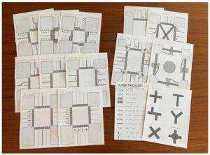 Swell paper diagrams showing intersection types, cross streets, T-intersection, etc.